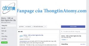 Một trong số những website, tài khoản mạng xã hội của Công ty Atomy
