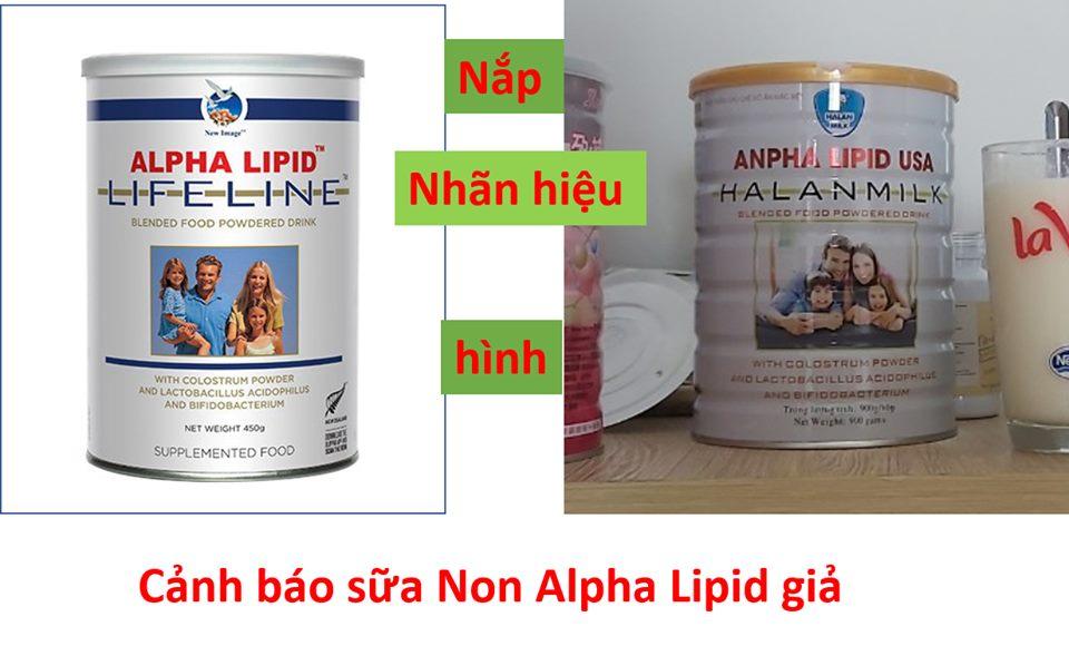 sữa non Alpha Lipid LifeLine lừa đảo hàng giả tràn lan